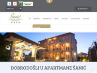 Frontpage screenshot for site: Apartmani Šanić (http://www.lopar-sanmarino.com/)
