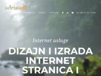 Slika naslovnice sjedišta: Adria Soft - Internet usluge (http://adriasoft.net)