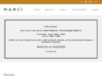 Slika naslovnice sjedišta: Marli satovi i nakit d.o.o. (http://www.marli.hr)