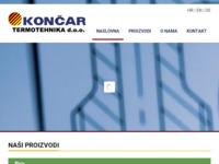 Frontpage screenshot for site: Končar termotehnika d.o.o. (http://www.koncar-termotehnika.t-com.hr/)