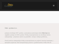 Slika naslovnice sjedišta: Diklo-gradnja d.o.o Zadar (http://www.diklo-gradnja.hr)