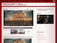 Frontpage screenshot for site: Wigwam d.o.o. Cerić, Vinkovci (http://www.wigwam.hr)