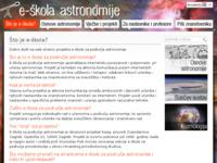 Frontpage screenshot for site: E-škola astronomije (http://eskola.zvjezdarnica.hr)