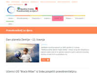 Frontpage screenshot for site: (http://www.dijete.hr/)
