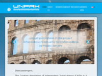 Frontpage screenshot for site: Udruga nezavisnih putničkih agenata Hrvatske (http://www.unpah.hr)