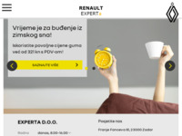 Slika naslovnice sjedišta: Experta Renault servis (http://www.experta-renault.hr/)