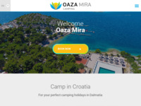 Frontpage screenshot for site: Oaza-Mira kamp (http://www.oaza-mira.hr/)