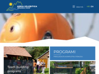 Frontpage screenshot for site: Adria Velebitica - pustolovna putovanja (http://www.adria-velebitica.hr)