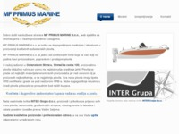 Frontpage screenshot for site: (http://www.mfprimusmarine.hr)
