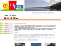 Frontpage screenshot for site: Obiteljski smještaj Raspor Opatija (http://www.guesthouse-raspor-opatija.hr)