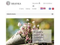 Slika naslovnice sjedišta: Cvjećarna Branka - Online prodaja i dostava cvijeća (http://www.cvjecarnabranka.hr)