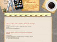 Frontpage screenshot for site: Projekt inkluzivne i besplatne računalne e-edukacija (http://www.itdesk.info)