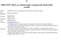 Slika naslovnice sjedišta: Hrvatin autoelektrika (http://www.hrvatin.hr)