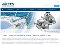 Frontpage screenshot for site: Elektro Yacht Servis (http://www.eys.hr)