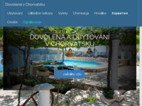 Frontpage screenshot for site: Katalog Odmor u Hrvatskoj (http://www.dovolena-chorvatsko.cz/)