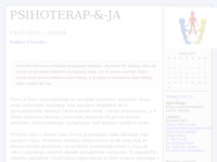 Frontpage screenshot for site: PSIHOTERAP-&-JA (http://psihoterapija.blog.hr)