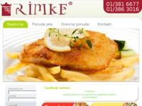 Frontpage screenshot for site: www.rimke.hr (http://www.rimke.hr)