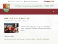 Slika naslovnice sjedišta: Udruga Vinogradara i vinara Općine Kaptol (http://www.udruga-vvv-kaptol.hr)