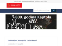 Slika naslovnice sjedišta: http://www.opcina-kaptol.com (http://www.opcina-kaptol.com)
