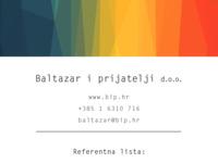Slika naslovnice sjedišta: Baltazar i prijatelji d.o.o. (http://www.bip.hr/)