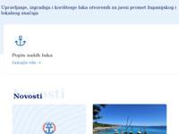 Frontpage screenshot for site: Lucka uprava splitsko-dalmatinske zupanije (http://www.lucka-uprava-sdz.hr/)