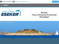 Frontpage screenshot for site: Esekertours Murter, Kornati (http://www.esekertours.hr)
