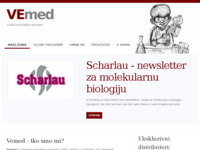 Frontpage screenshot for site: Vemed - laboratorijska oprema (http://www.vemed.hr)