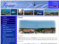 Frontpage screenshot for site: Apartmani Vera - Premantura, Pula, Istra (http://www.apartments-vera.com)
