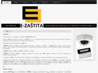 Slika naslovnice sjedišta: E-ZAŠTITA d.o.o.  IP video nadzor, alarmni sustavi, vatrodojavni sustavi, računalne mreže (http://www.e-z.hr)