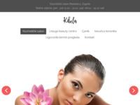 Frontpage screenshot for site: Kibela kozmetički salon - kavitacija, IPL, radiofrekvencija (http://www.kibela.hr)