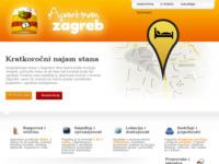 Frontpage screenshot for site: Apartman Zagreb, Kratkoročni najam stana u Zagrebu. (http://apartmanzagreb.com/)