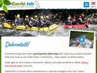 Frontpage screenshot for site: Gorski tok d.o.o. - za športsko rekreativni turizam (http://www.gorski-tok.hr/)