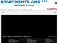 Frontpage screenshot for site: Apartmani Ana - Pula (http://www.apartments-ana.hr)