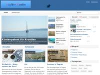Frontpage screenshot for site: Turistički vodč Hrvatska (http://www.reisefuehrer-kroatien.com)