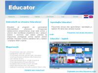 Frontpage screenshot for site: Educator softver (http://www.educator.com.hr)