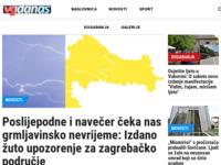 Frontpage screenshot for site: VG Danas (http://www.vgdanas.hr)