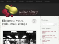 Frontpage screenshot for site: Vinska priča (http://vinskaprica.com)