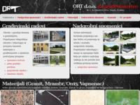 Slika naslovnice sjedišta: Nadgrobni spomenici i građevinski radovi - klesarstvo, ORT d.o.o. Osijek (http://www.ort-osijek.hr/)