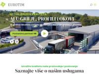 Slika naslovnice sjedišta: Eurotim: Grilje, okovi, alu i pvc stolarija (http://www.eurotim.com.hr)