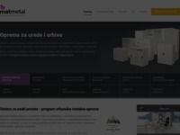 Slika naslovnice sjedišta: Matmetal Sistem d.o.o. - opremanje prostora (http://www.matmetal-sistem.hr/)