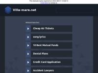 Frontpage screenshot for site: Villa Mare Rabac (http://www.villa-mare.net/)
