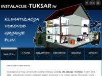 Slika naslovnice sjedišta: Instalacije Tuksar. Grijanje, vodovod, plin, klimatizacija. (http://www.instalacije-tuksar.hr/)