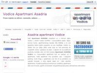 Slika naslovnice sjedišta: Apartmani Asadria Vodice (http://www.vodice-apartmani.com.hr/)
