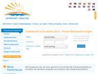 Frontpage screenshot for site: Katalog hrvatskih privatnih smještaja za njemačke turiste (http://www.unterkunftinkroatien.de/)