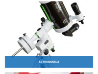 Frontpage screenshot for site: Teleskop centar (http://www.teleskopcentar.hr)