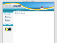 Frontpage screenshot for site: Otočki vjesnik (http://www.otocki.hr/)