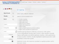 Frontpage screenshot for site: Valturist (http://www.valturist.hr/)