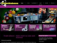 Slika naslovnice sjedišta: Svijet zabave - aparati za zabavu - zabavne igre (http://www.svijetzabave.com/)