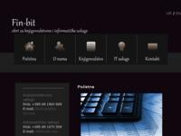 Frontpage screenshot for site: (http://www.fin-bit.com)