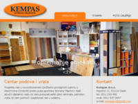 Slika naslovnice sjedišta: Kempas d.o.o. - opremanje objekata - podovi, vrata, drvene fasade i terase, ship decking... (http://kempas.hr/)